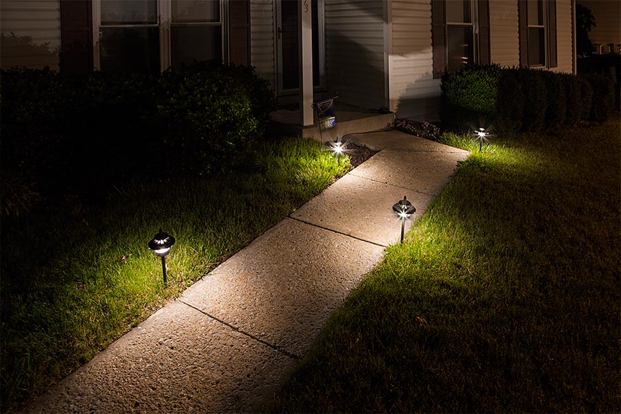 Wattage For Landscape Lighting : Led landscape path lights dual tier watt aluminum housing lumens