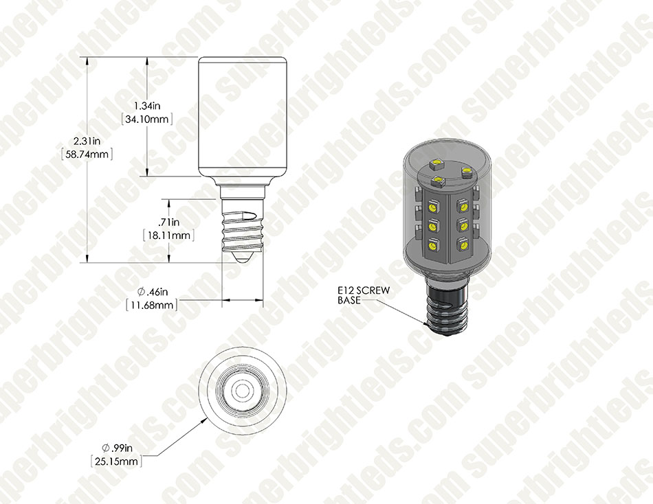 Candelabra LED Bulb, 21 High Power LEDs