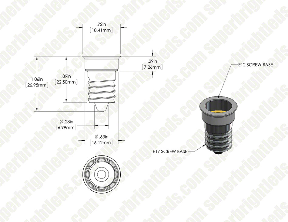 E12 Base to E14 Base Socket Adapter
