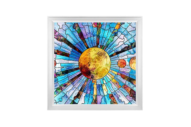 Led Skylight W Glass Planets Skylens 174 2x2 Dimmable Led Panel Light Flush Mount Drop Ceiling