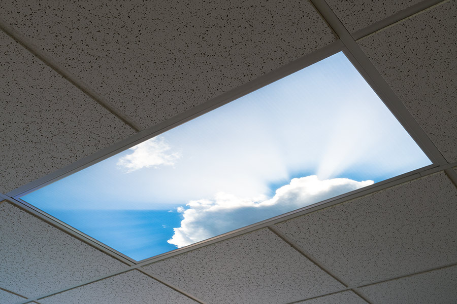 Led Skylight W Summer Skylens 174 2x4 Dimmable Led Panel