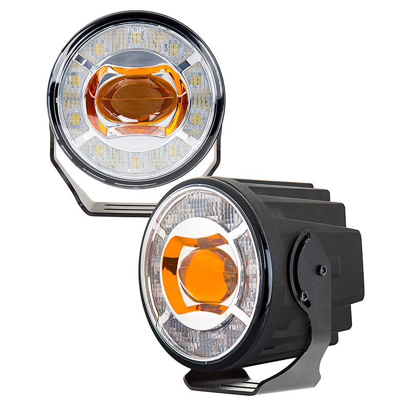 """Led Lights Ender 3: 3-1/2"""" LED Projector Fog Lights Conversion Kit W/ Halo"""