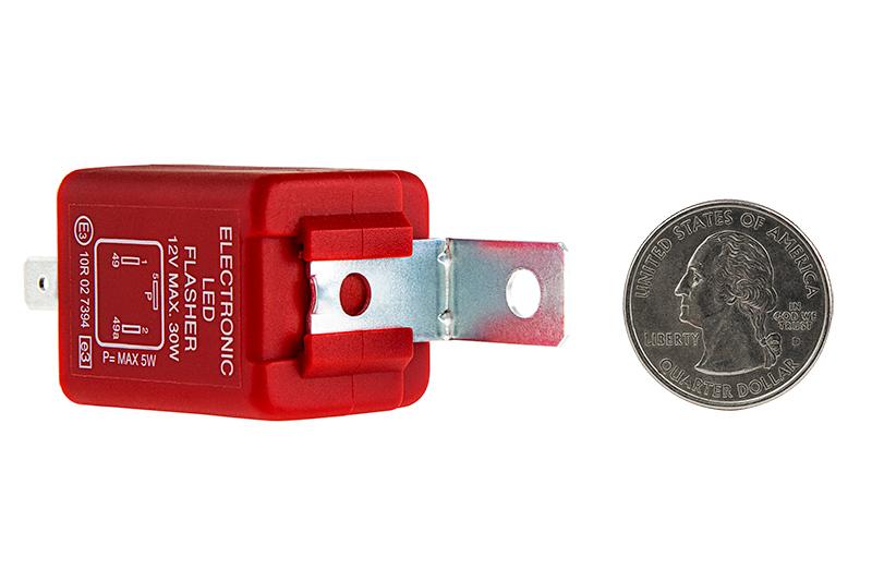 fl3 red led bulb electronic flasher flashers load. Black Bedroom Furniture Sets. Home Design Ideas
