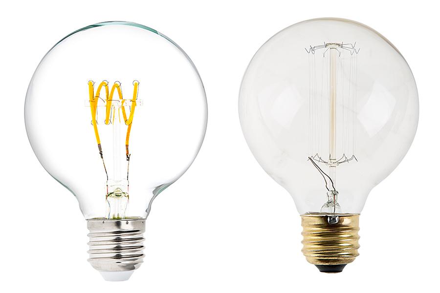 Flexible filament led bulb g25 carbon filament style for Led lampen 0 3 watt