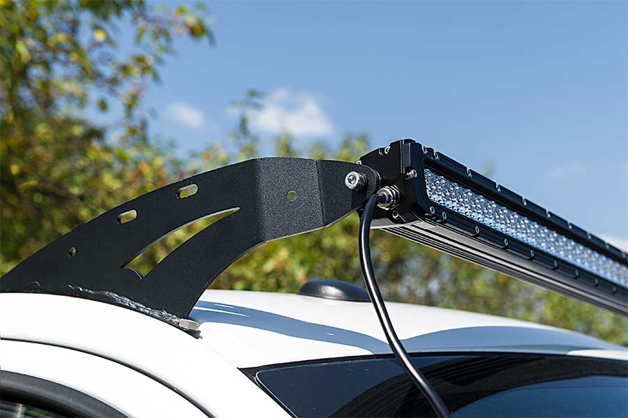 Ford f 150 04 2014 rooftop led light bar mounts straight 50 ford f 150 04 2014 rooftop led light bar mounts straight 50 single row led light bars installed on top aloadofball Image collections