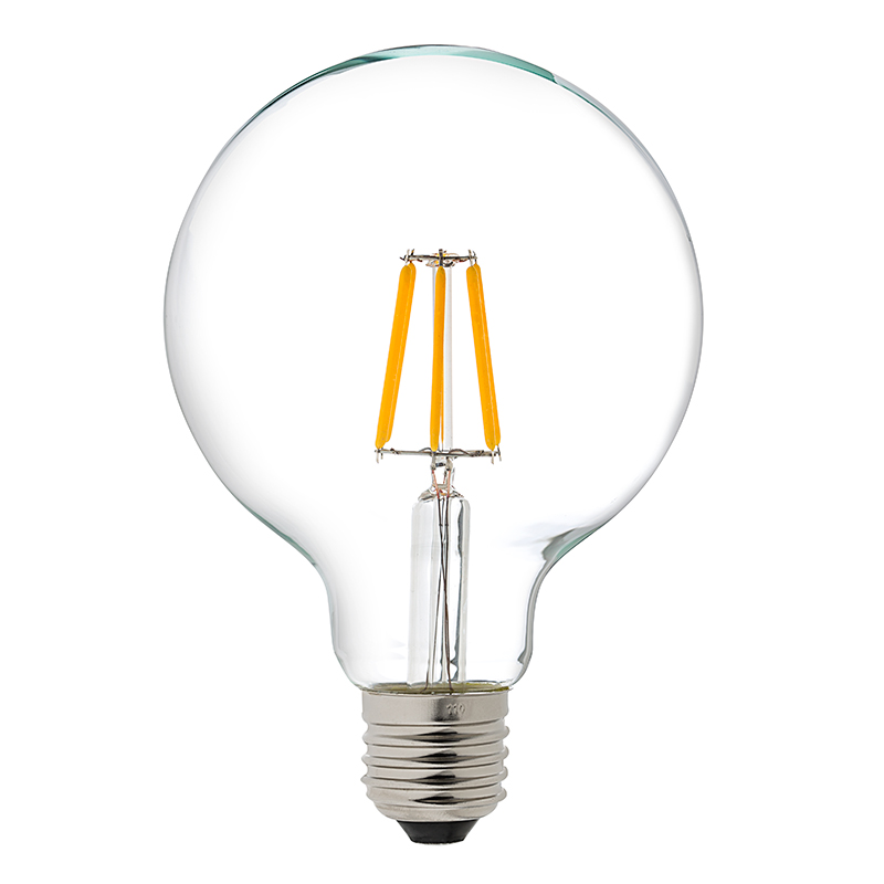 G30 Led Vanity Bulb 60 Watt Equivalent Led Filament Bulb Dimmable 600 Lumens Household