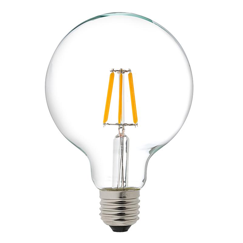 G30 Led Vanity Bulb 60 Watt Equivalent Led Filament Bulb Dimmable 600 Lumens Led Globe