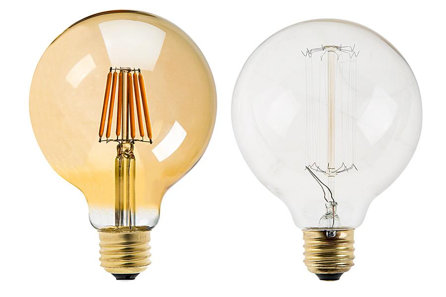 G30 LED Vanity Bulb - Gold Tint LED Filament Bulb - 25 Watt Equivalent - Dimmable - 250 Lumens ...