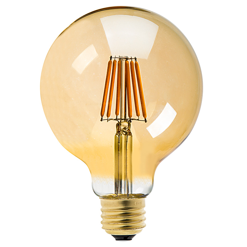 G30 Led Vanity Bulb Gold Tint Led Filament Bulb 25 Watt Equivalent Dimmable 250 Lumens