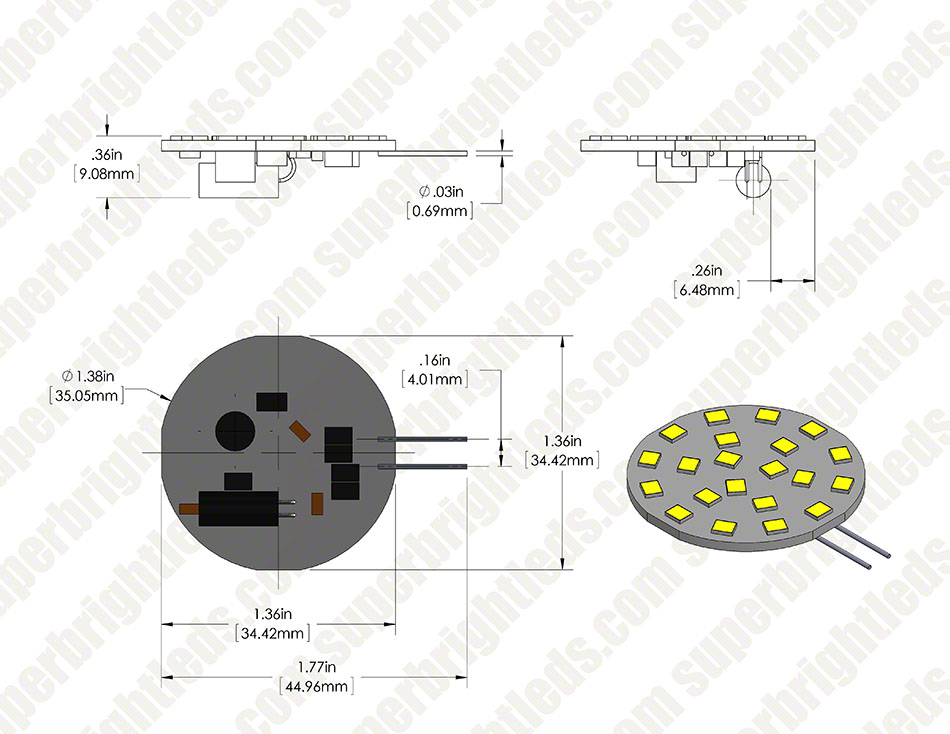 LED G4 Lamp, 21 High Power LED Disc Type