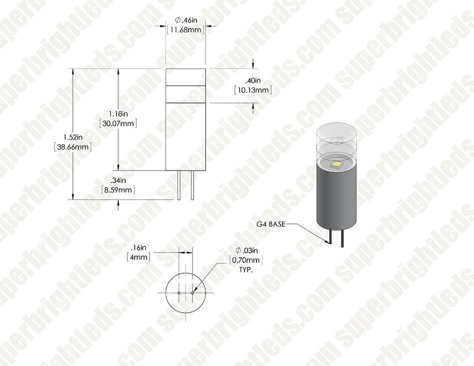 g4 led bulb - 15 watt equivalent - 12v ac  dc