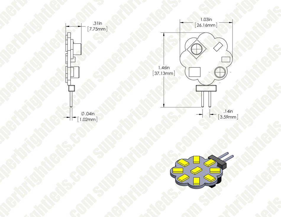 G4 Led Landscape Light Bulb 25 Watt Equivalent Bi Pin