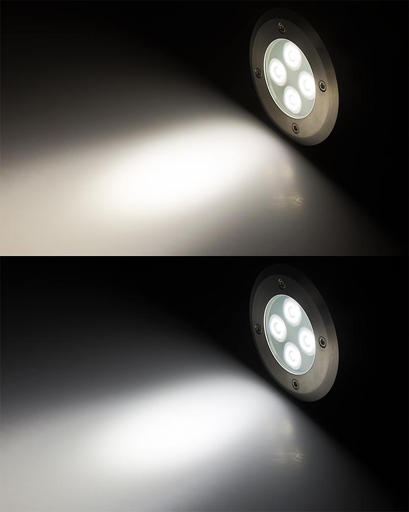 Led in ground well light 8 watt 400 lumens led well for Led landscape light bulbs