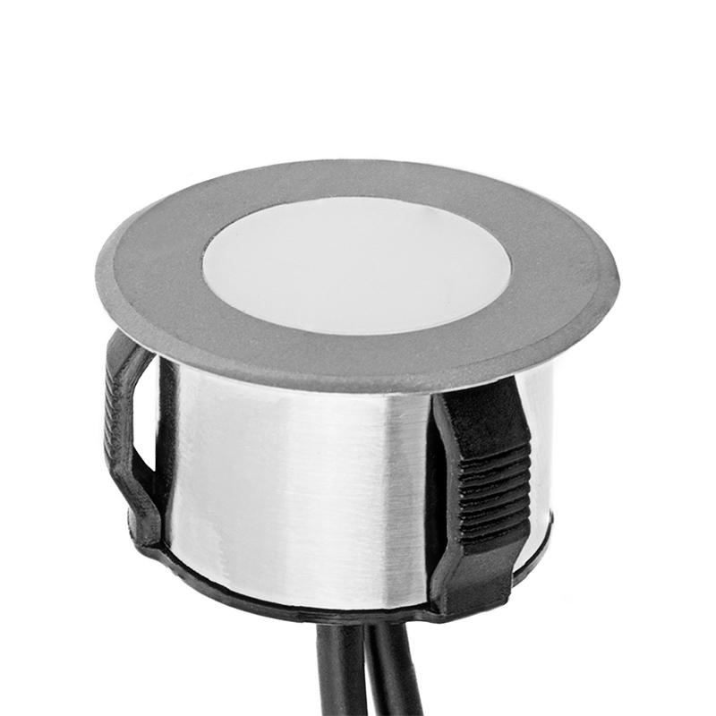 Led in ground well light 1 watt equivalent stainless for Led lampen 0 3 watt