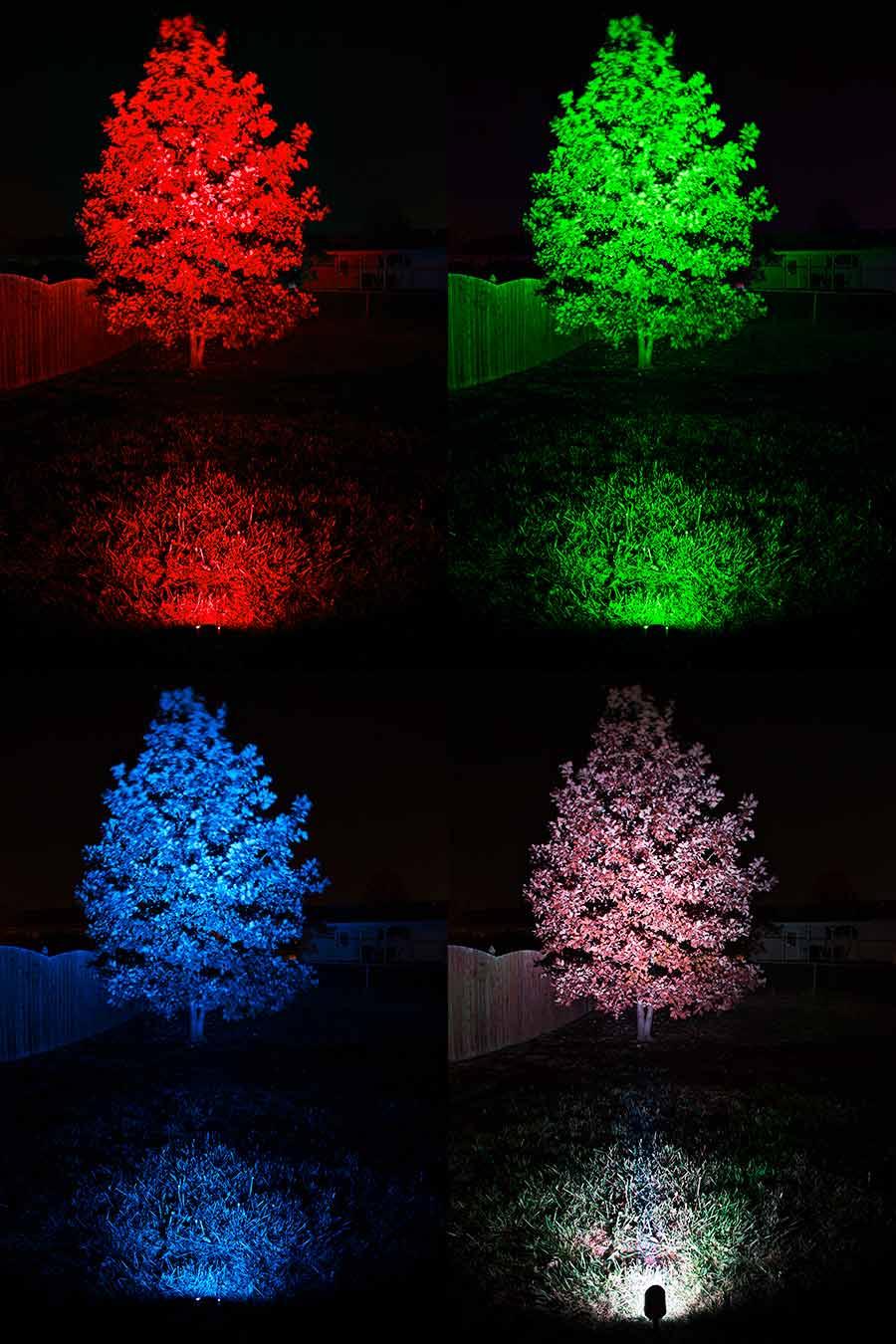 18w color changing rgb led landscape spotlight 525 lumens remote sold separately led. Black Bedroom Furniture Sets. Home Design Ideas
