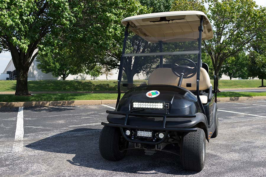 12 golf cart led light bar 36w super bright leds 12 off road led light bar 36w shown installed on golf cart aloadofball