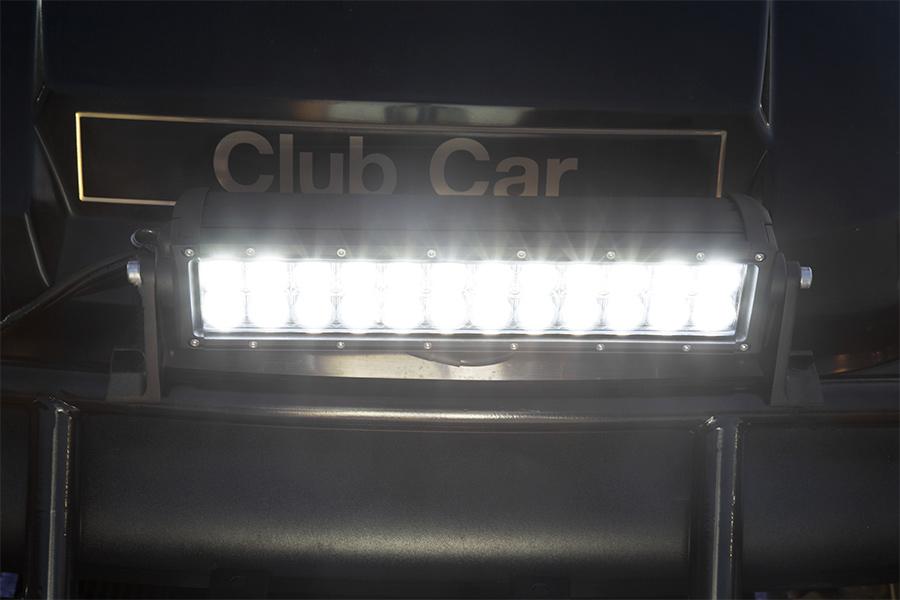 12  Off Road LED Light Bar - 36W Flood Beam Shown Installed On Golf Cart & 12