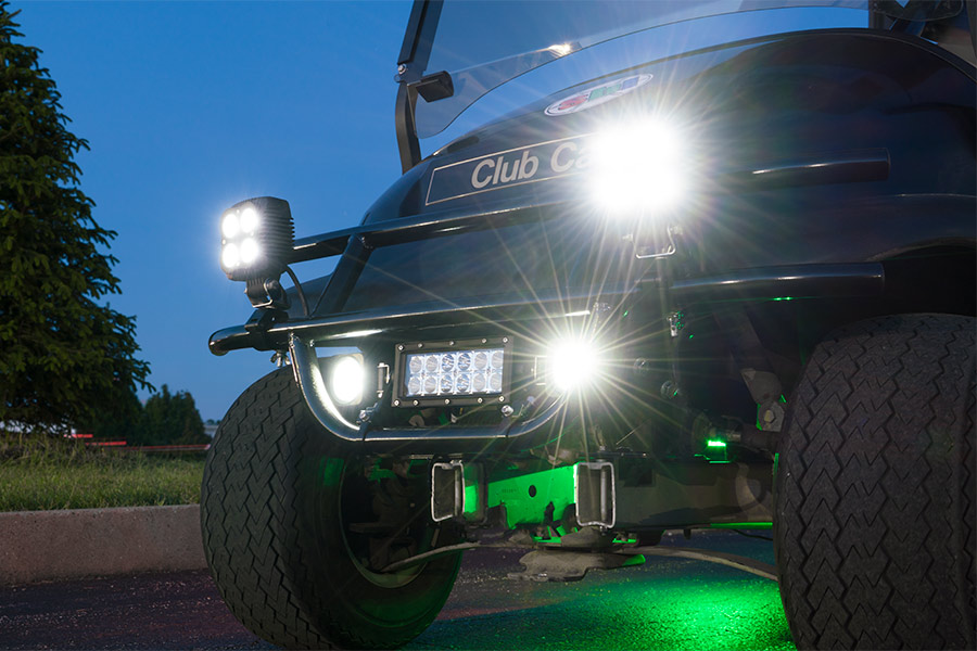 Universal mounting bracket for off road led light bar super bright universal mounting bracket for off road led light bar shown mounting light bar and aux lights to bottom bar on golf cart brush guard lights sold aloadofball Choice Image