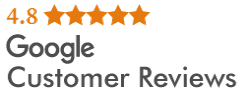Google Customer Reviews Rating of 4.8 stars.