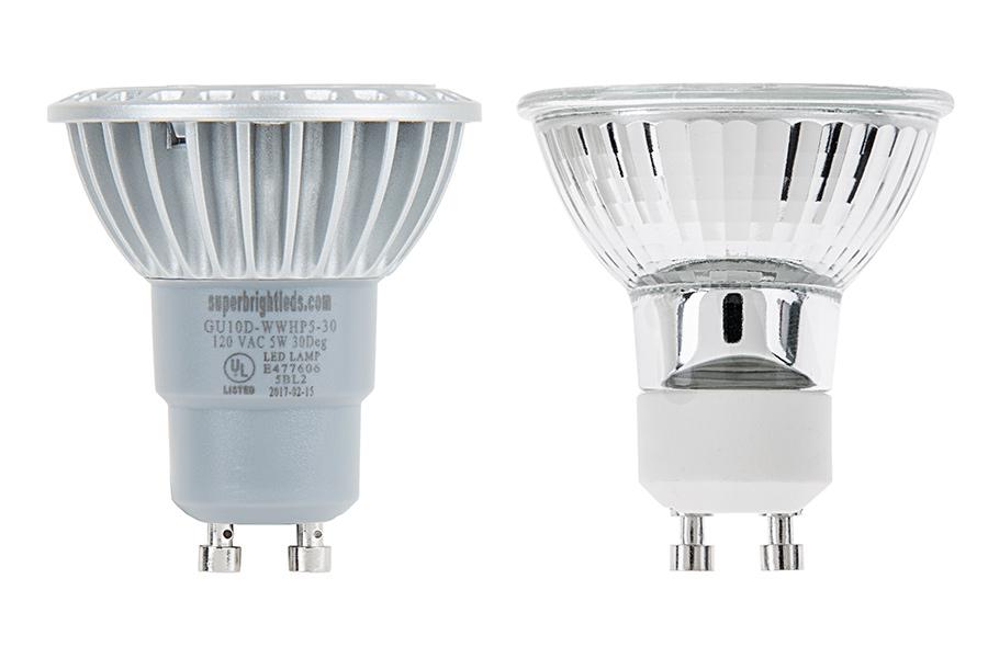 Gu10 Led Bulb 40 Watt Equivalent 120v Ac Bi Pin Led Spotlight Bulb 312 Lumens