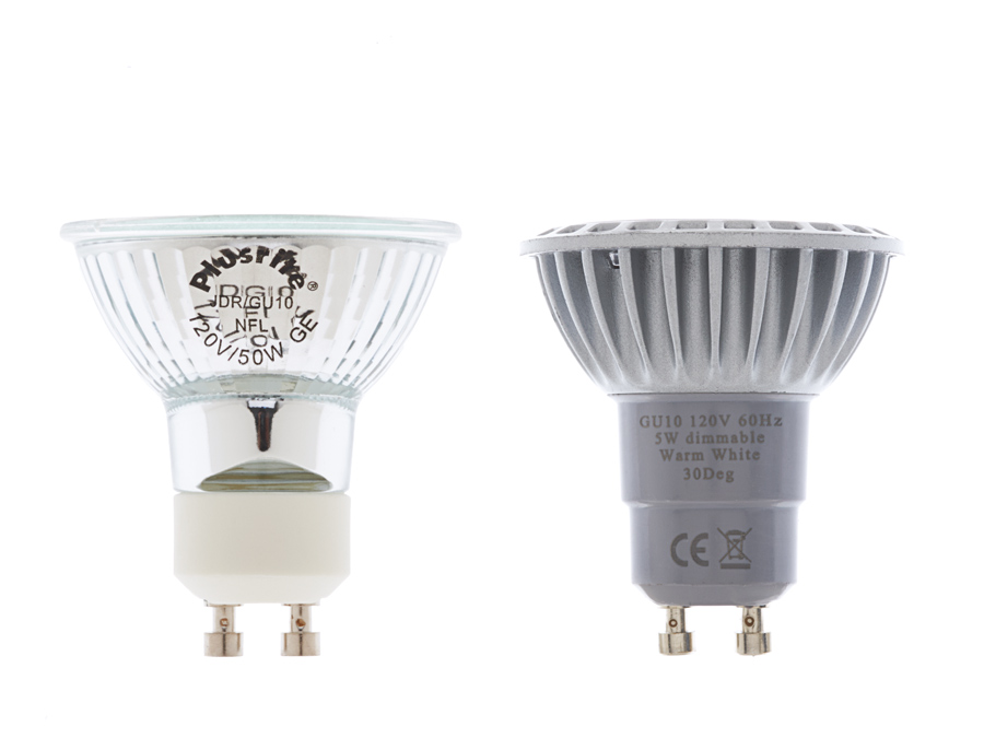 GU10 LED Bulb - 35 Watt Equivalent - Bi-Pin LED Spotlight Bulb ...