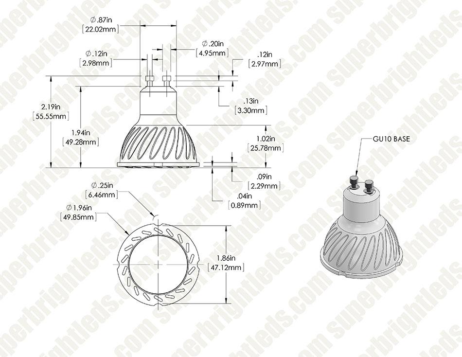 gu10 led bulb - 45w equivalent