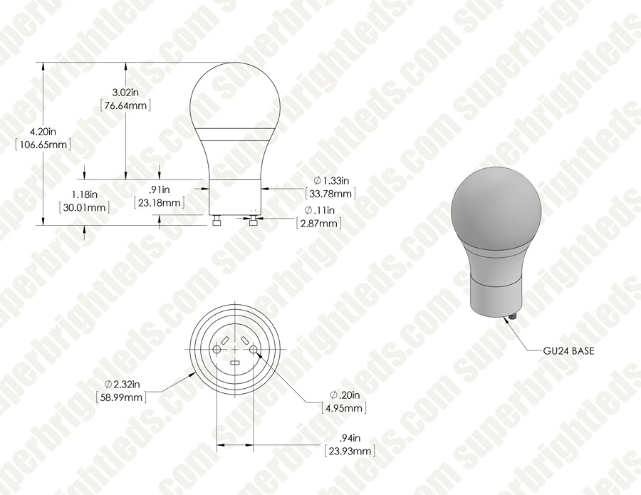 gu24 led bulb - 60 watt equivalent - dimmable a19 bulb