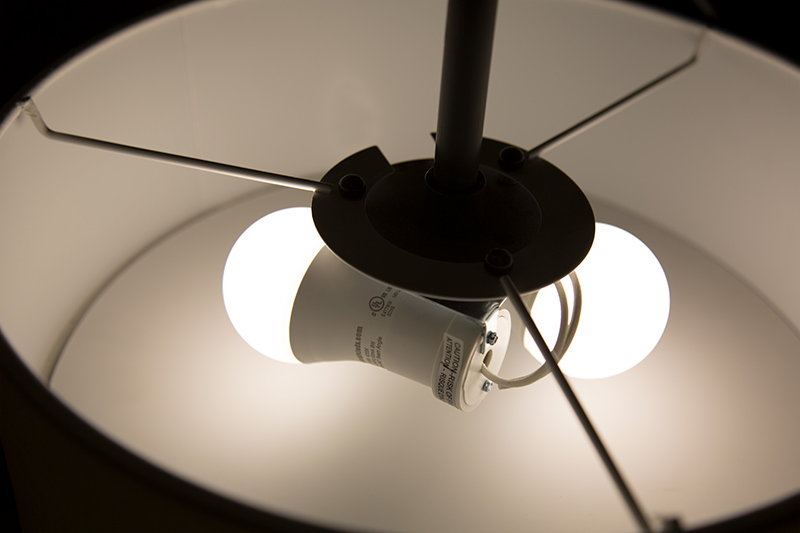 gu24 led bulb 90 watt equivalent dimmable a19 bulb 900 lumens installed in light fixture - Gu24 Led