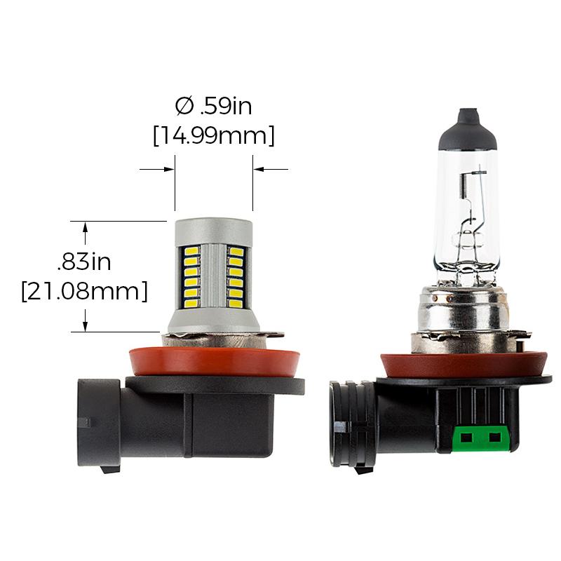 H11 Can Bus Led Fog Light Daytime Running Light Bulb 28 Smd Led Tower H Series Super