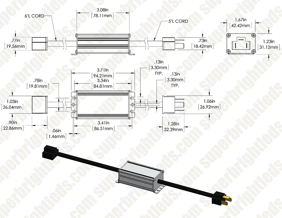 Headlight Load Resistor Kit - H4 Connection