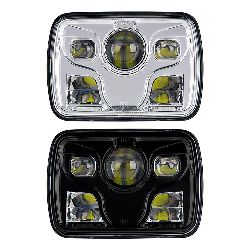 rectangular h6054 led projector headlights led. Black Bedroom Furniture Sets. Home Design Ideas