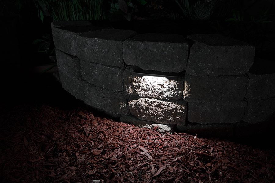 Garden Retaining Wall Lights : LED Hardscape Lighting - 8