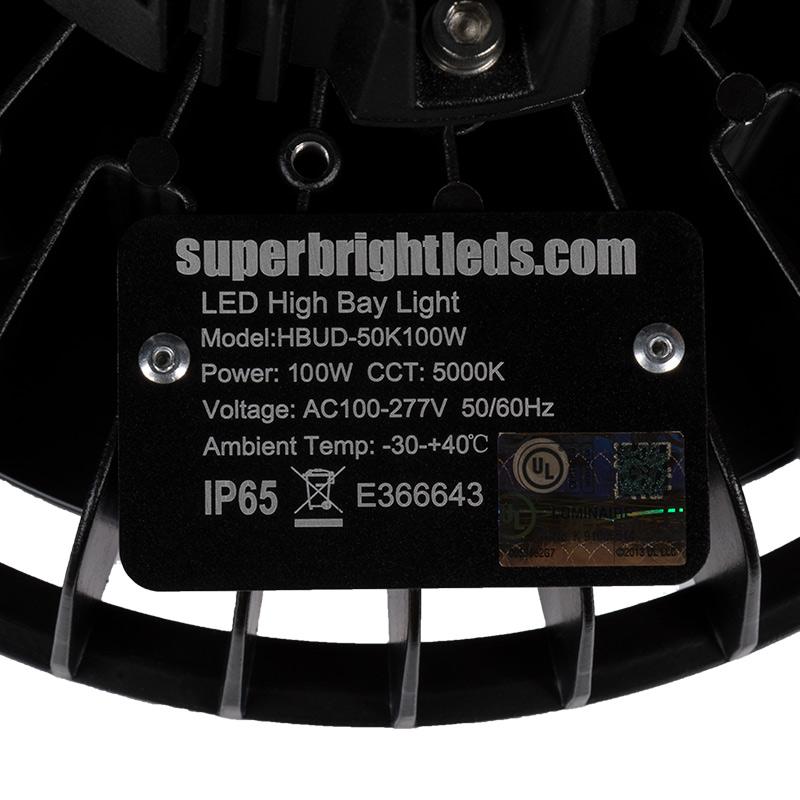 Led High Bay Prismatic Reflector: 100W UFO LED High Bay Light W/ Reflector