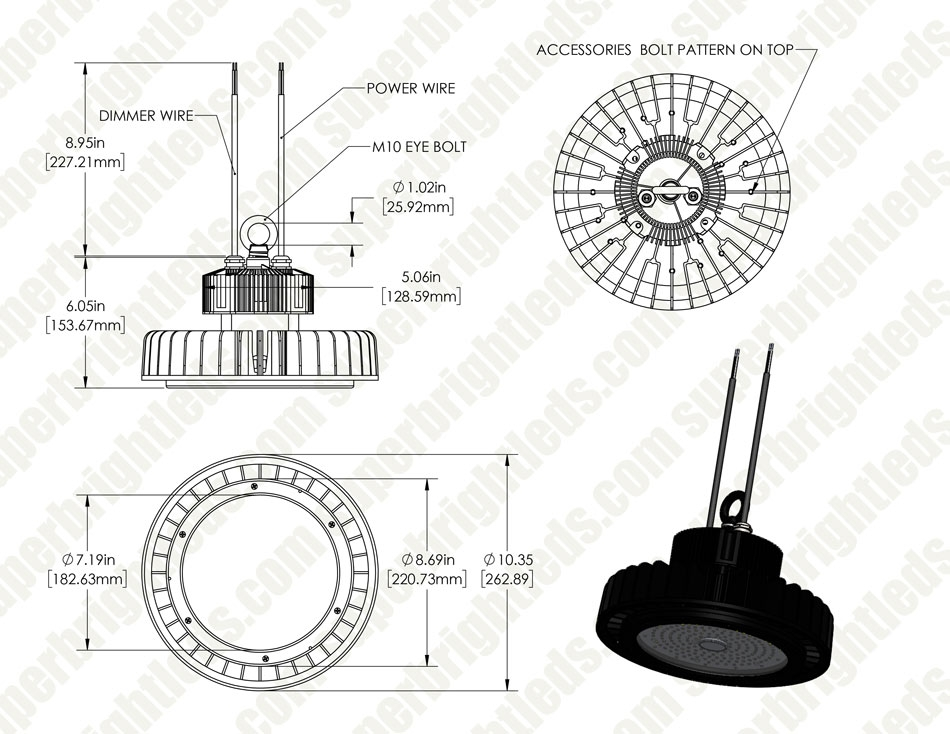 100W UFO LED High Bay Light - 13,000 Lu - 250W Metal Halide ...  W Mh Wiring Diagram on transformer diagrams, battery diagrams, electronic circuit diagrams, engine diagrams, motor diagrams, internet of things diagrams, electrical diagrams, led circuit diagrams, lighting diagrams, friendship bracelet diagrams, switch diagrams, pinout diagrams, gmc fuse box diagrams, honda motorcycle repair diagrams, sincgars radio configurations diagrams, hvac diagrams, troubleshooting diagrams, smart car diagrams, snatch block diagrams, series and parallel circuits diagrams,