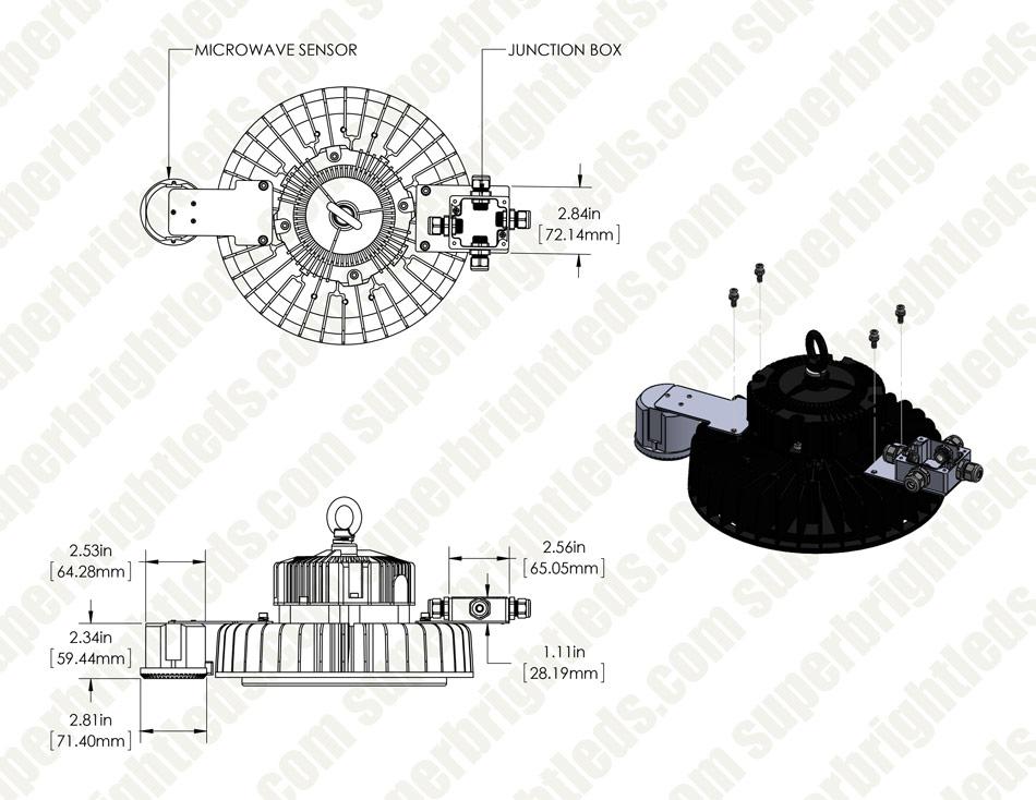 microwave motion sensor for hbud ufo led high