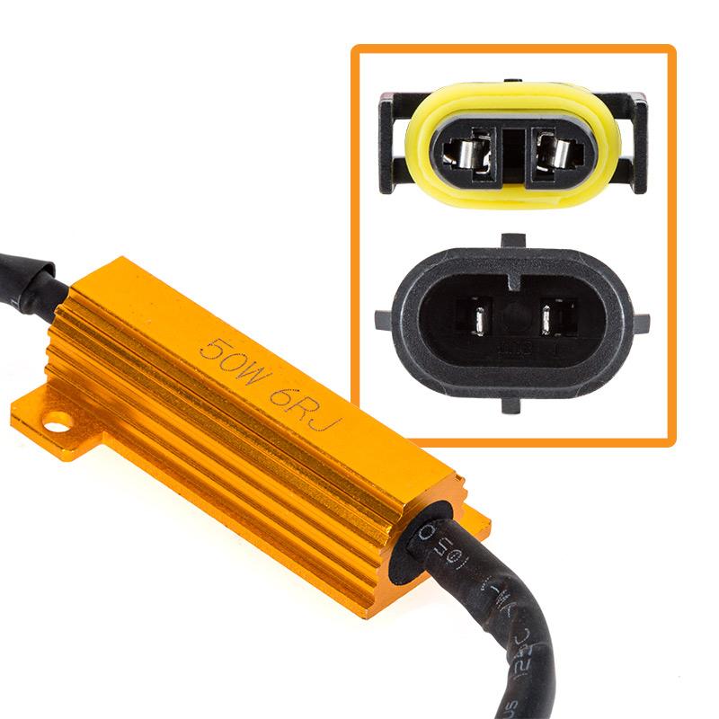 headlight load resistor kit h11 led headlight bulbs super bright headlight load resistor kit h11 connection detail0 jpg
