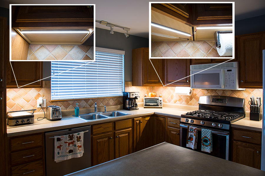 Slim Aluminum Profile Housing For LED Strip Lights: Installed Under Kitchen  Cabinets