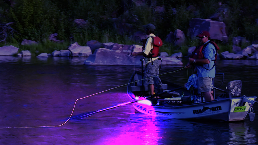 High powered uv led flood light 45w halloween super for Boat lights for night fishing