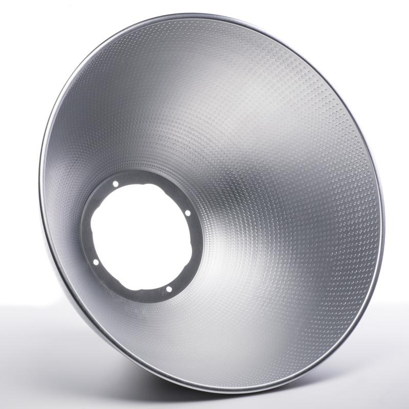 Led High Bay Prismatic Reflector: LED High Bay Light Reflector - 90 Degree Aluminum