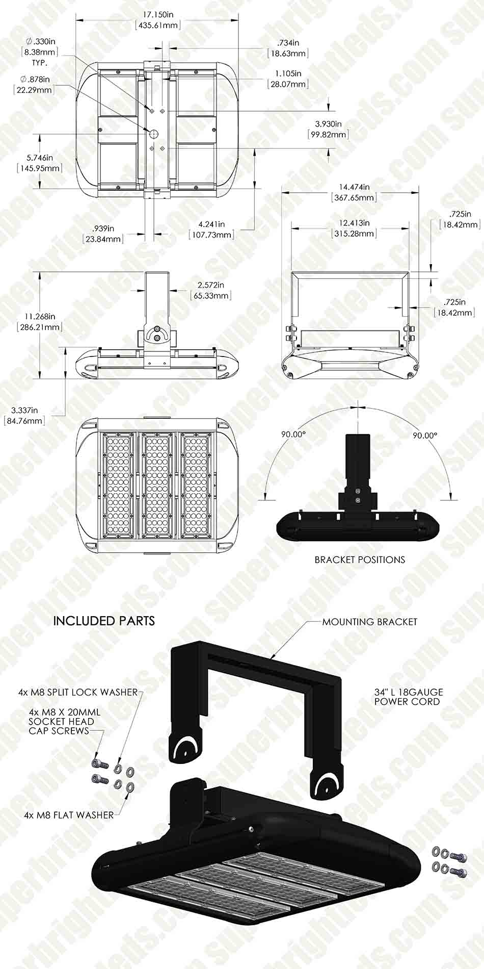 150W LED Area Light - Natural White