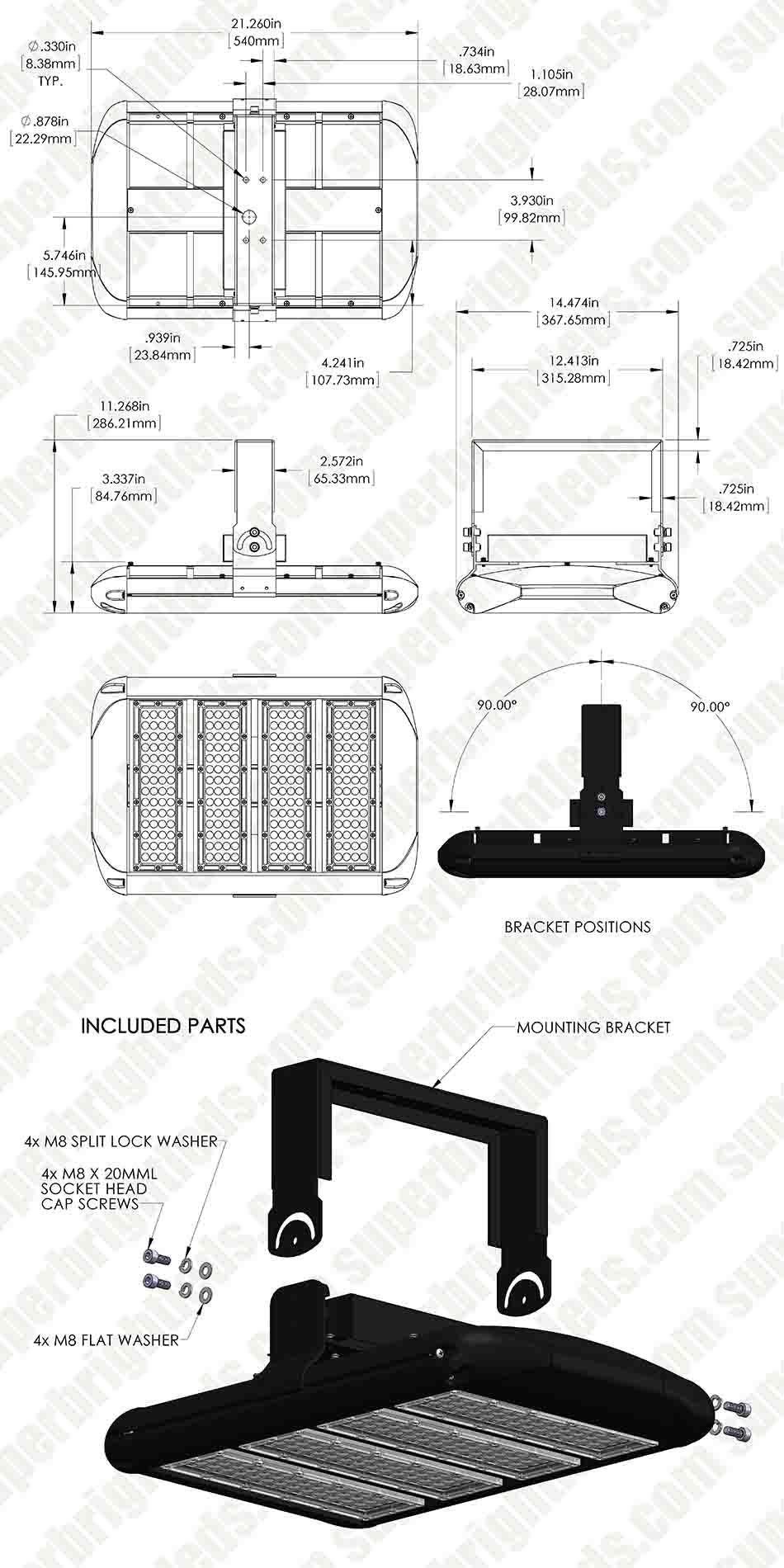 200W LED Area Light - Natural White