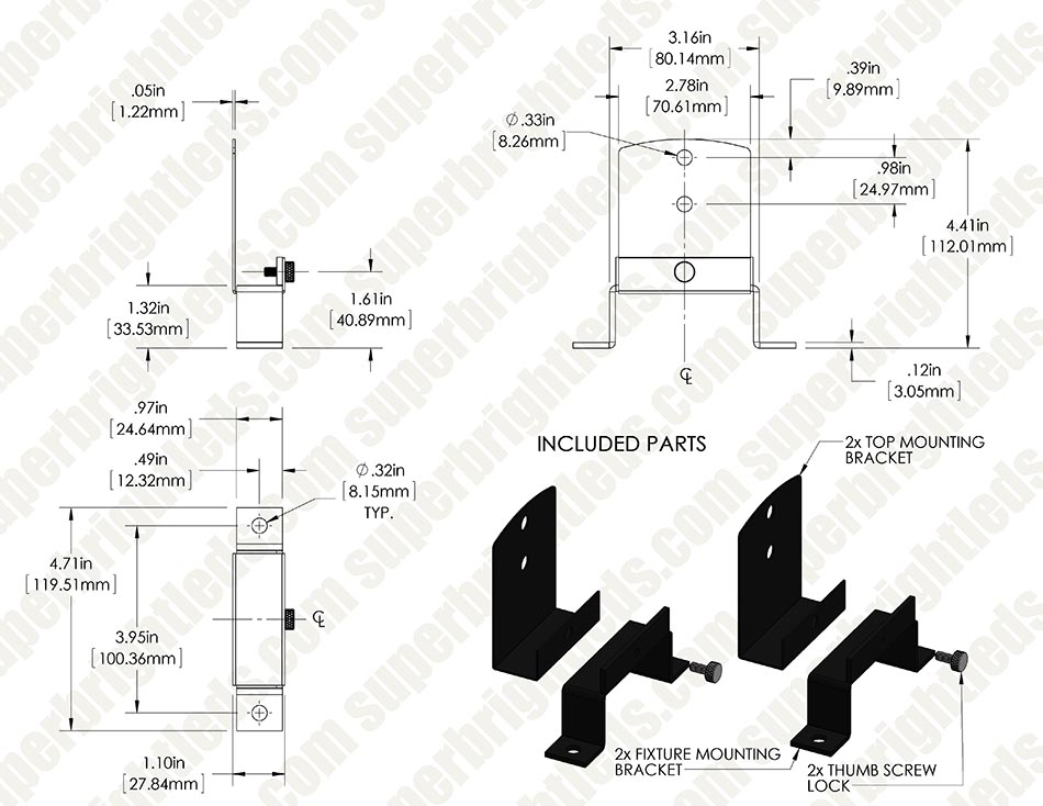 Surface Mount Brackets for High Bay Mounting