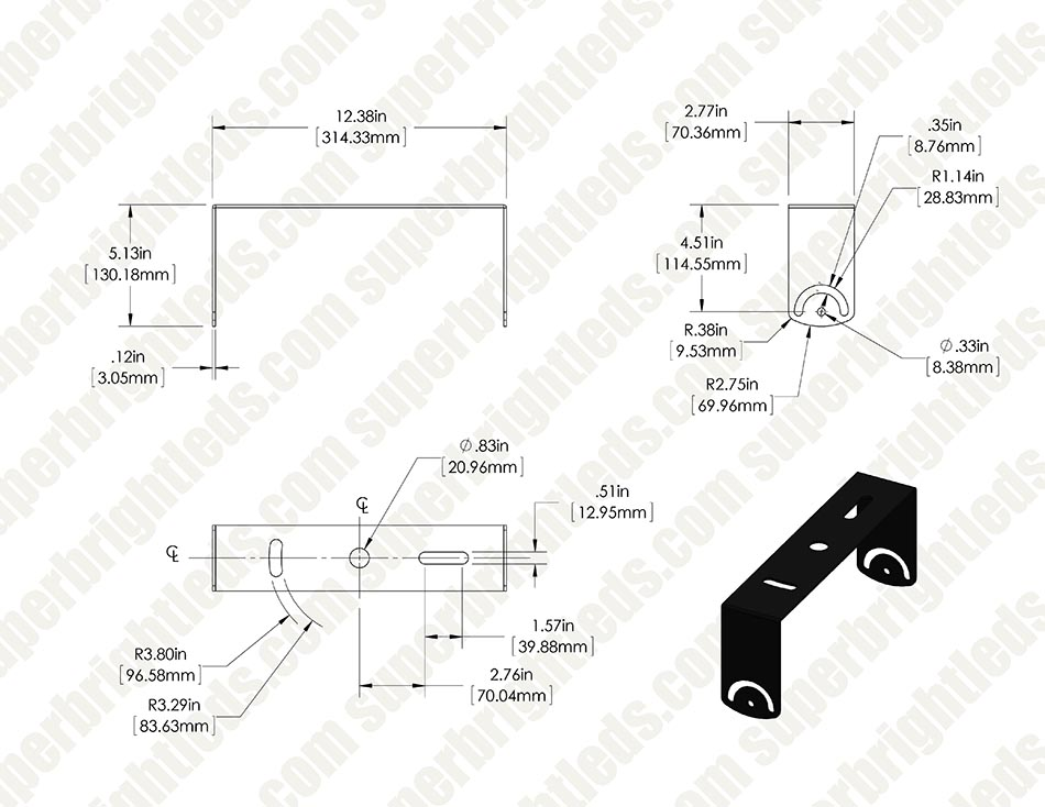 Universal Angle Mount Bracket - High Bay Mounting
