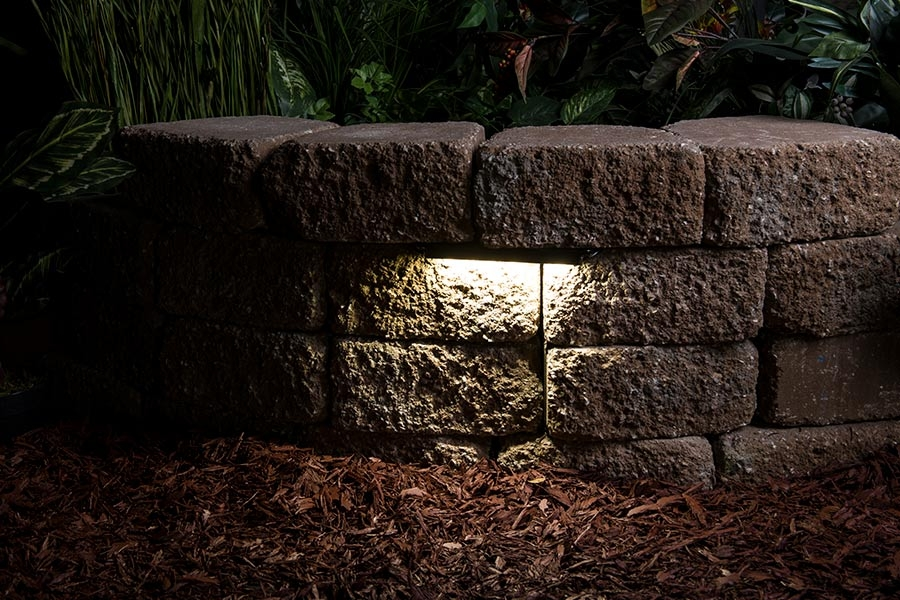 Led Hardscape Lighting Deck Step And Retaining Wall Lights W Mounting Plates 3000k 2700k Super Bright Leds