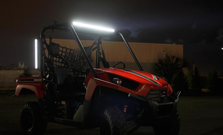 17 compact off road led light bar 34w 2520 lumens led light 17 compact off road led light bar 45w installed on utv audiocablefo