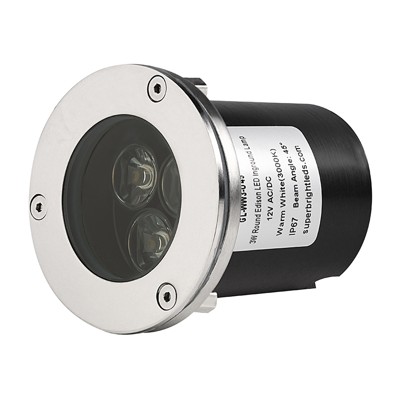 led in ground well light 3 x 1w high power leds under ground led