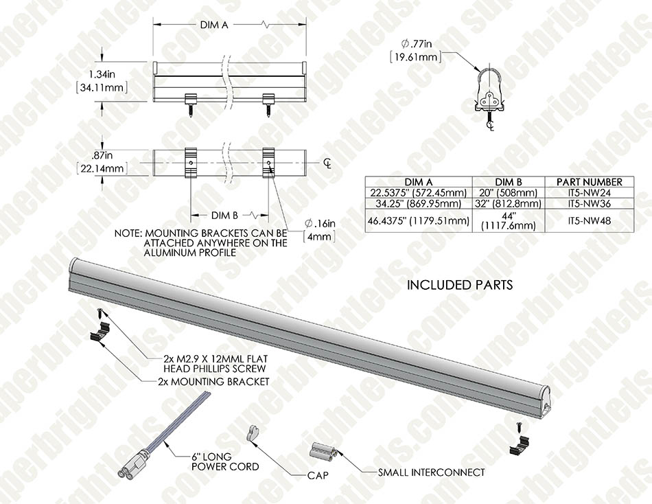 Linkable Linear LED Light Fixtures - T5 Low Voltage LED Lights