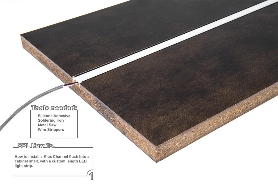 Anodized Aluminum Surface Mount LED Profile Housing For