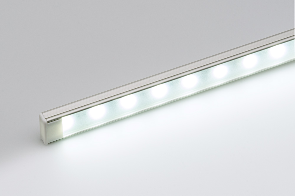 ECO series Surface Mount Anodized Aluminum Klus LED Profile Housing - TAMI-ANODA shown with end cap and NFLS-X3 LED Light Strip (not included) & Anodized Aluminum Surface Mount LED Profile Housing for LED Strip ... azcodes.com