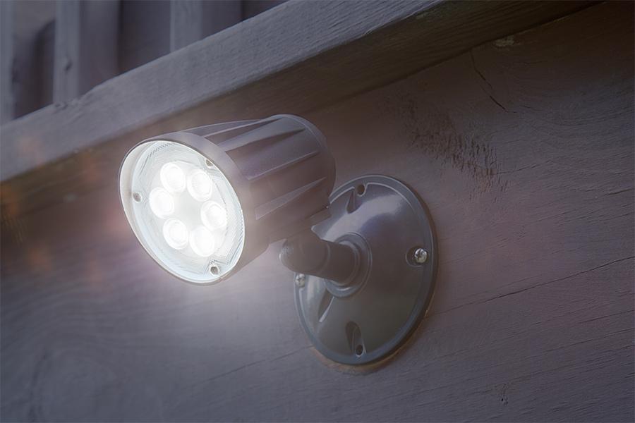 15 Watt Knuckle Mount LED Spotlight   Bullet Style   1,500 Lumens:  Installed On Deck